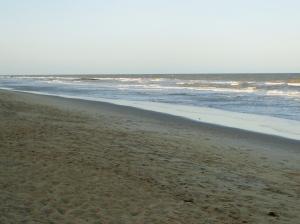 O mar da Praia Central